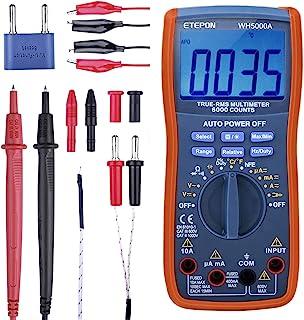 Multimetr cyfrowy, ETEPON True RMS6000 zalicza multimetry ręczne i automatyczne zakresy, mierzy napięcie, prąd, opór, ciąg...