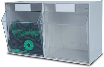 Hünersdorff Sistema de almacenamiento MultiStore Listón n.º 2 De plástico altamente resistente, gris claro