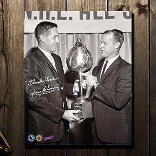 Jean Beliveau Autographed Picture - Hart Trophy w Howe 8x10 - Autographed NHL Photos