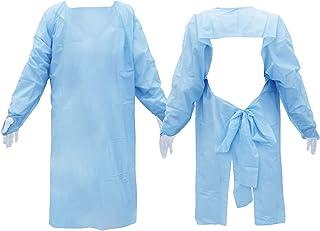 使い捨てエプロン ブループラスチック 50着入り CE・FDA・ISO認証取得 レディース メンズ 対応 防護服 ガウン 医療現場