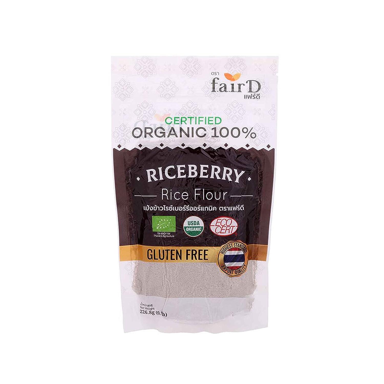 Regular store Fair D Organic Riceberry Rice Popular product Flour g. of piece Pack 1 226.8