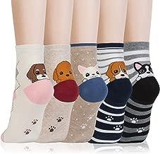 Kikiya Socks Women's Animal Design Crew Socks