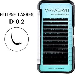 Ellipse Eyelash Extensions 0.20mm D Curl 8-15mm Mixed Flat Eyelash Extension supplies Light Lashes Matte Individual Eyelashes Salon Use Black Mink False Lashes Mink Lashes Extensions(D-0.20-MIXED)