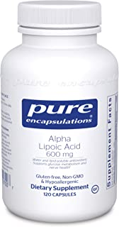 Pure Encapsulations Alpha Lipoic Acid 600 mg | ALA Supplement for Liver Support, Antioxidants, Nerve and Ca...