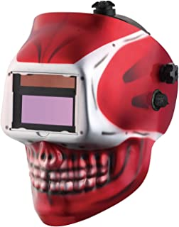 KOOLWOOM Solar Power Auto Darkening Welding Helmet SKULL designed with 2 Arc Sensors..
