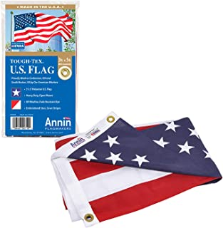 Annin Flagmakers Model 2710 American Flag Tough-Tex The Strongest, Longest Lasting,..