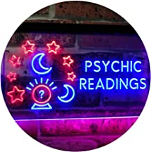 Psychic Readings Crystal Ball Dual Color LED Neon Sign Red & Blue 300 x 210mm st6s32-i3120-rb
