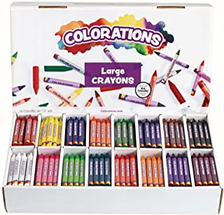 Colorations CLBIG16 Large Crayons 16 Colors (بسته 400)