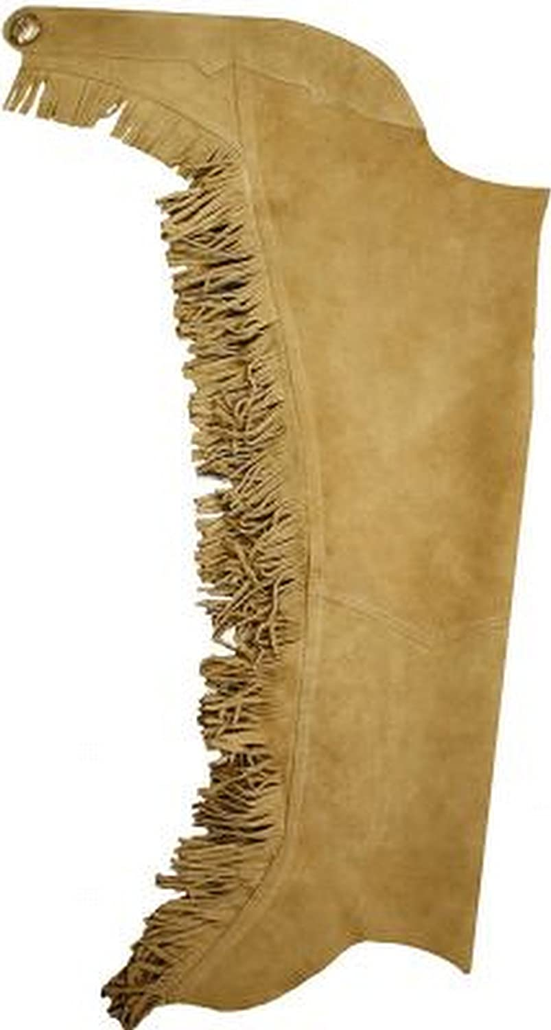Showman Two Tone Brown Kid/'s Suede Leather Chaps /& Vest Outfit w//Fringe