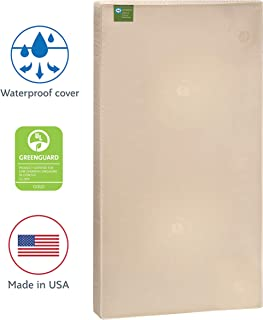 "Sealy Soybean Natural Dream Waterproof Toddler & Baby Crib Mattress – Lightweight Hypoallergenic Soy Foam, 51.7"" x 27.3"