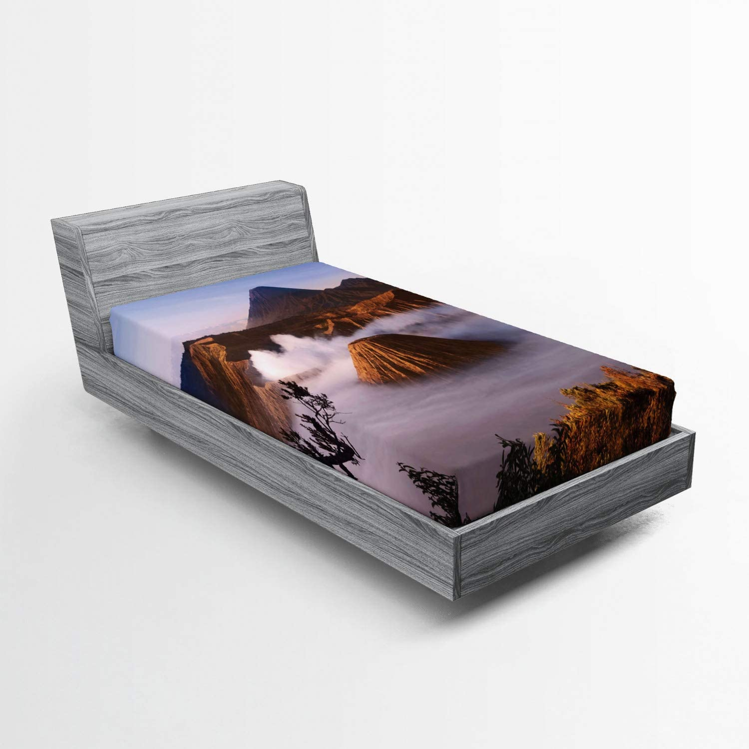 Lunarable Volcano Fitted Sheet Mount Sale price Animer and price revision Volcanoes in T Taken Bromo