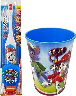 Paw Patrol Marshall Toothbrush Set: 2 Items - Spinbrush Powered Toothbrush, Paw Patrol Character Rinse Cup