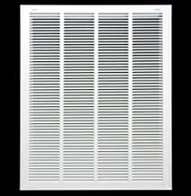 """20"""" X 30"""" Steel Return Air Filter Grille for 1"""" Filter - Removable Face/Door - HVAC Duct Cover - Flat Stamped Face -White ..."""