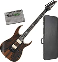 Ibanez RGEW521ZC NTF RG Standard Exotic Natural Guitar Bundle w/Case and Cloth