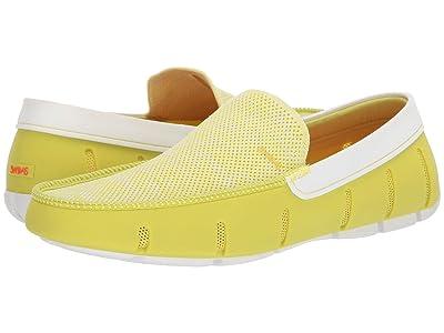 SWIMS Classic Venetian Loafer (Limeade/White) Men
