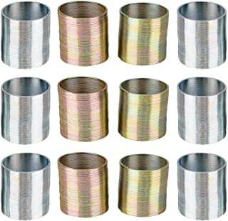 Kicko Metal Coils - 12 Pack - 1 Inch Coiled Walking Springs in Silver and Gold Color for Class Rewards, Playtime Activity,...