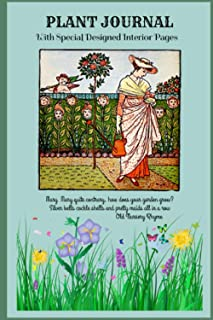 """PLANT JOURNAL With Special Designed Interior Pages: """"Mary Mary quite contrary, How does your garden grow?"""" - Cute nursery ..."""