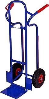 Sackkarre, Gleitkufen 250 kg, 111x50x53 cm, blau klappbare Schaufel Transportkarre Stapelkarre Handkarre, Umzugskarre, leichte Sackkarre aus Stahl klappbar für Umzug