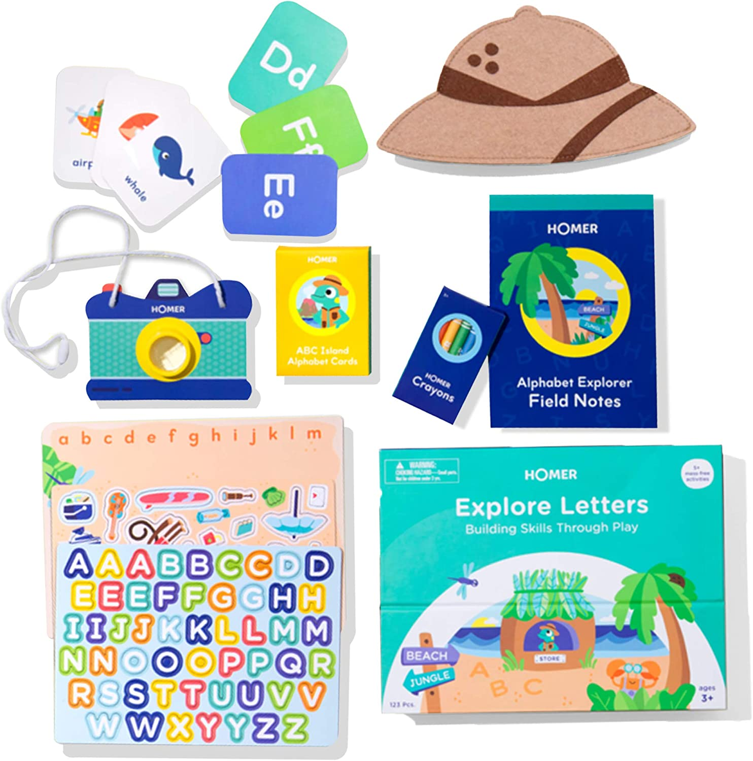 HOMER Charlotte Mall Explore Letters Kit - Learn and ABCs Branded goods the Magneti with Play