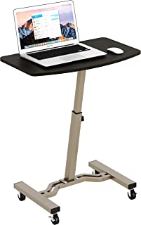 SHW Height Adjustable Mobile Laptop Stand Desk Rolling Cart, Height Adjustable from..