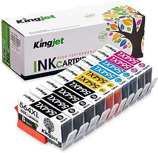 Kingjet Compatible Replacement for 564, 564XL Ink Cartridge Work with Photosmart 5510 5520 5525 6510 6512 6520, Officejet 4610 4620 4622, Deskjet 3520 3521 3522, 10Pack (2SET + 2BK)- 4 Color