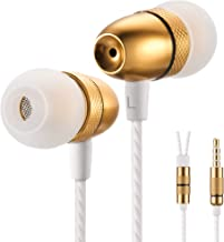 Betron ELR50 Earphones Earbuds Headphones, Balanced Bass Driven Sound, Noise Isolating, Stereo for iPhone, iPod, iPad, Samsung and Mp3 Players (Gold)