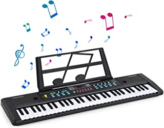 61 Key Portable Keyboard Piano, Digital Piano with Built-in