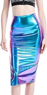 hologram pencil skirt