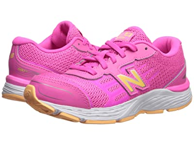 New Balance Kids YP680v5 (Little Kid/Big Kid) (Light Peony/Light Mango) Girls Shoes