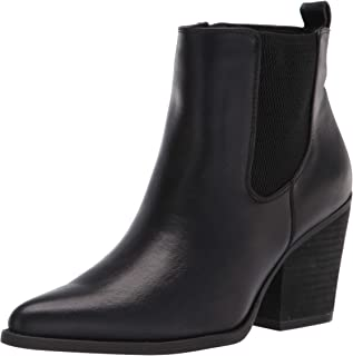 Women's Micah Booties Ankle Boot, Black Smooth, 10 Wide
