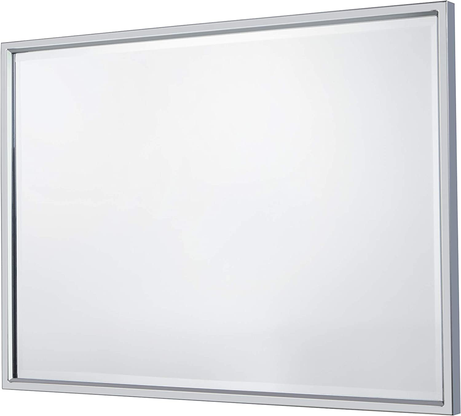 Large Stainless Steel Edging Bathroom Mirror Wall Mirror Finely Slanted Tilting Bathroom Rectangle Hanging Mirror   26-Inch x 36-Inch