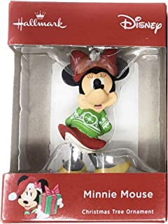 Disney Minnie Mouse Green Sweater Gift Exchange Christmas Tree Ornament Mfg by Hallmark