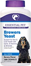 Essential Pet Products Brewers Yeast Chewable Tablets with Garlic, B Vitamins & Minerals for Dogs