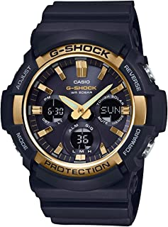 G-Shock GAS100G-1A Tough Solar Resin/Stainless Steel Men's Watch (Black)