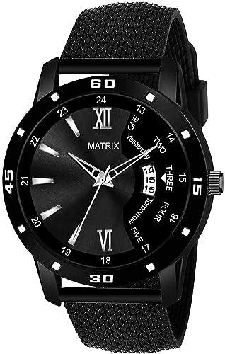 Matrix Alpha Numeric Day Date Analog Wrist Watch For Men Boys
