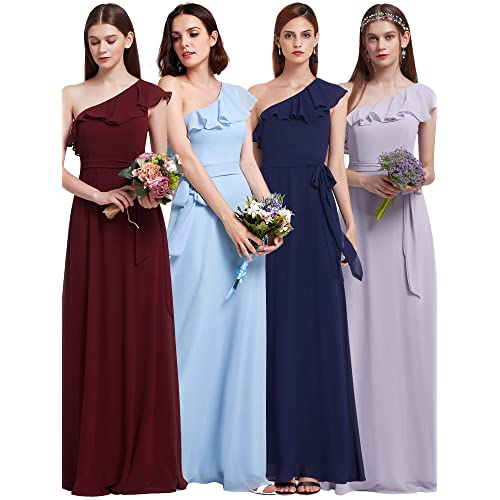 3b24e66be608 Ever Pretty Women s Elegant Floor Length A Line Chiffon Long Bridesmaids  Dress 07201