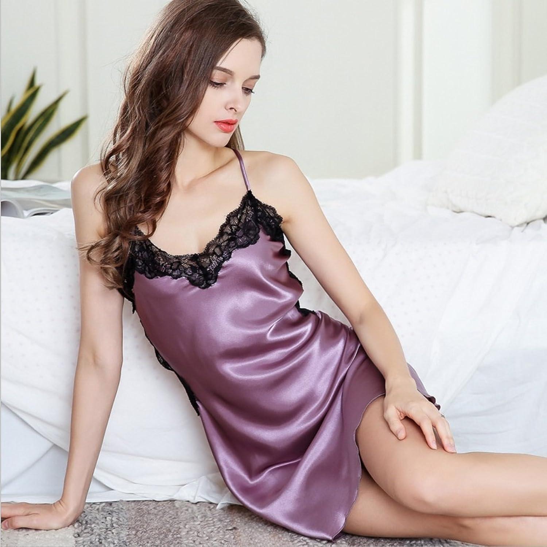 NEIYI NEIYI NEIYI Nachthemd Sommer Seide Bestickt Pyjamas Backless Lace Sommerkleid Cuiyan B07G2VPWTN  Leidenschaftlicher Sport, niemals aufhören 3febfa