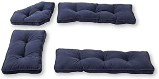 Greendale Home Fashions 4-Piece Nook Cushion Set Hyatt, Denim