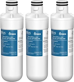 LT1000P Refrigerator Water Filter, Compatible with LG LT1000P, LT1000PC, LT-1000PC, MDJ64844601, Kenmore 46-9980, 9980, ADQ74793501, ADQ74793502, by Pureza, 3 PACK