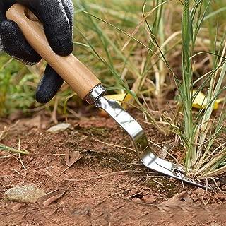 20cm t/ête fourchue d/ésherbeur /à la Main d/ésherbeur Poign/ée en Bois pour Patio Jardin Enlever Les Mauvaises Herbes