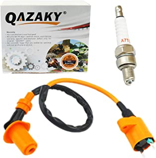 QAZAKY Replacement for Ignition Coil Spark Plug XR50 XR70 XR80 XR100 CRF50 CRF70 CRF80 CRF100 Pit Dirt Racing Bike Scooter Motorcycle ATV