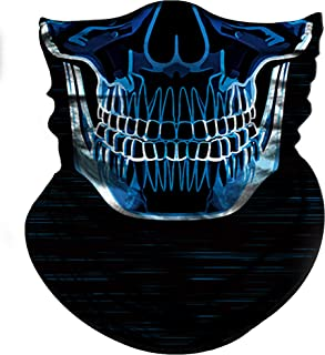 skeleton winter face mask