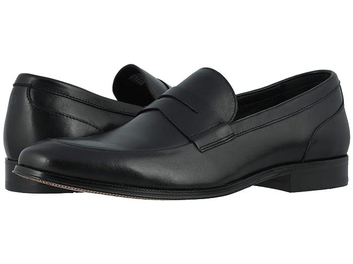Florsheim  Jetson Moc Toe Penny Loafer (Black Smooth) Mens Shoes