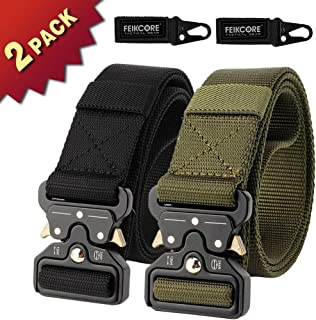 FEIKCOR Tactical Belt, Tactical Heavy Duty Waist Belt for Men, Quick-Release Military Style Shooters Nylon Belts Metal Buckle