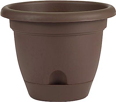 """Bloem Lucca Self Watering Planter, 14"""", Chocolate (LP1445)"""
