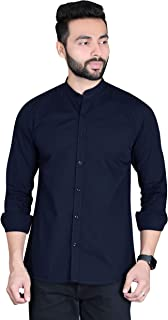 Fifth Anfold Mandarine Collar Casual Pure Cotton Full Sliv Shirt