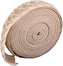 PIXNOR Burlap Ribbon Brown