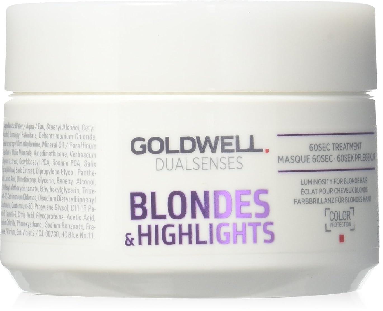 手のひら謝るオフゴールドウェル Dual Senses Blondes & Highlights 60Sec Treatment (Luminosity For Blonde Hair) 200ml
