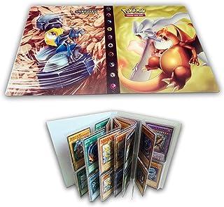 Album de cartes compatible avec les cartes Pokemon, porte-cartes, album de cartes de reliure Livre d'album Meilleure prote...