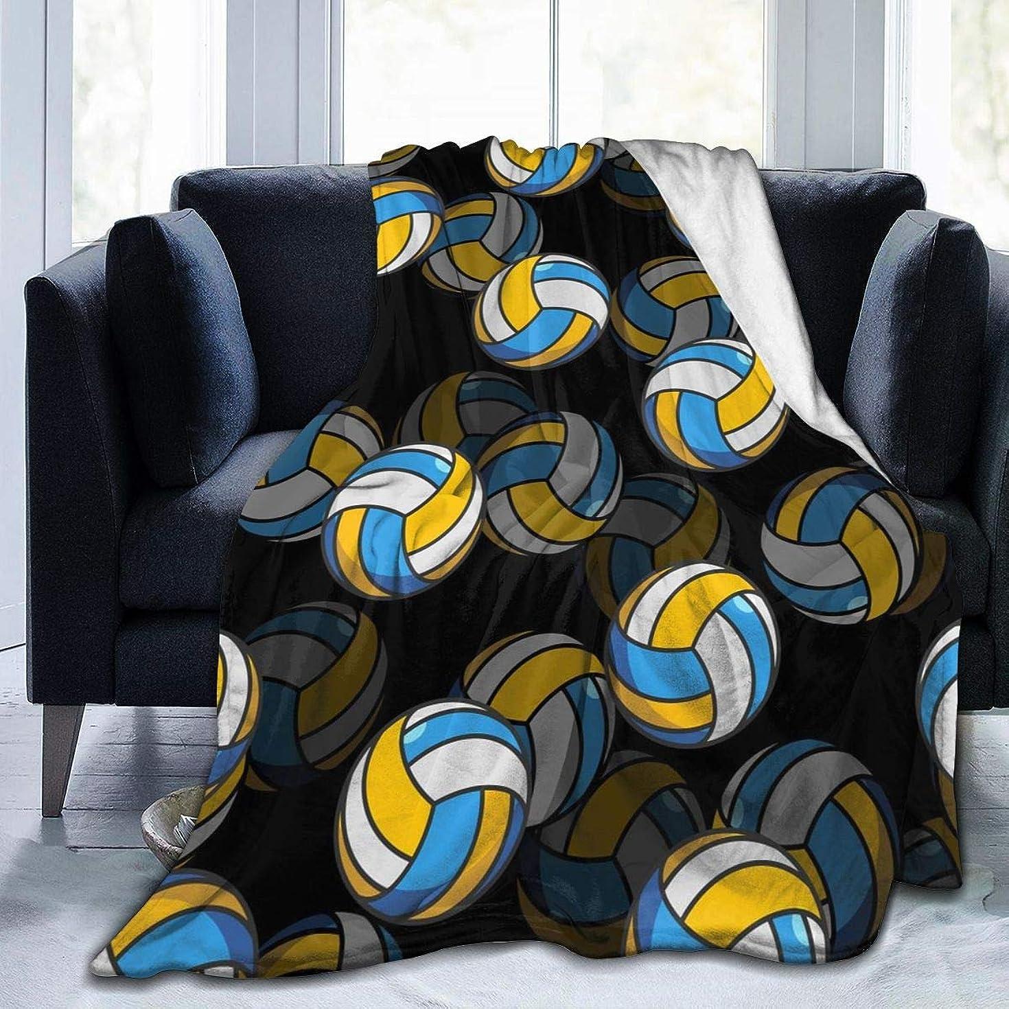 サイズオーナメントミニバレーボール シームレス パターン 毛布 掛け毛布 ブランケット シングル 暖かい柔らかい ふわふわ フランネル 毛布 三つのサイズ